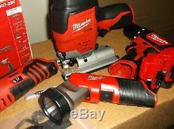 Milwaukee M12 2407-22C 4-Tool 12V Cordless Drill/Driver Combo Tool Kit