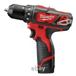 Milwaukee M12 Cordless Mechanics Combo Kit 5 Tools with Tool Bag Lithium 12v