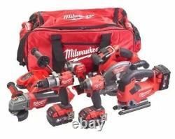 Milwaukee M18FPP6D2-503B 18v 6 Piece Kit Cordless Fuel 6 Piece Tool Set