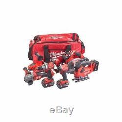 Milwaukee M18FPP6D2-503B 18v Cordless Fuel 6 Piece Tool Kit In Tool Bag