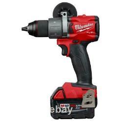 Milwaukee M18 Cordless Combo Tool Kit 7 Tools Drill Impact Grinder (4) Batteries