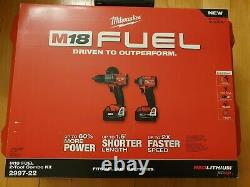 Milwaukee M18 FUEL Hammer Drill Driver & Impact Driver 2 Tool Combo Kit 2997-22