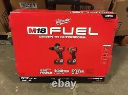 Milwaukee M18 Fuel 2-Tool Combo Kit, Hammer Drill/Impact Driver, 2997-22