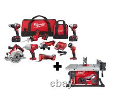 Milwaukee Tool Kit M18 Cordless Combo (8-Tool) With FUEL 8-1/4 in. +Table Saw