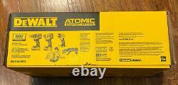 NEW DeWALT 20V MAX ATOMIC Lithium-Ion Brushless Cordless 4 Tool Kit DCK488D2 NEW