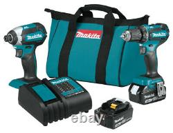 NEW Makita XT281S 18 Volt 3.0Ah 2-Tool Brushless Cordless Driver Combo Kit