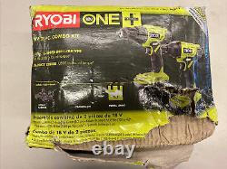 NEW RYOBI ONE+ 18V Lithium-Ion Cordless 2-Tool Combo Kit with Drill/Driver, Impact