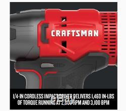 New CRAFTSMAN V20 2-Tool 20-Volt Max Power Tool, Combo Kit Bundle w Soft Case