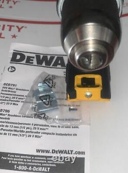 New Dewalt DCD791B 20V Max XR 1/2 Brushless Drill Driver Barr Tool