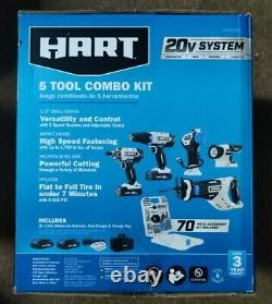 New HART 20-Volt 5-Tool Kit with 70-Piece Accessory Set + 2 Lithium-ion Battery