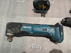 PACK OF 4 Makita Drills XFD06 XPH06 XPH01 and Multi Tool XMT03