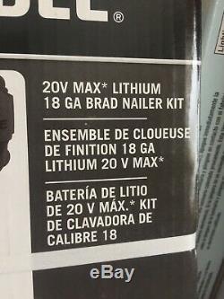 PORTER-CABLE 20V MAX Cordless Brad Nailer, 18GA, Tool, battery &Charger