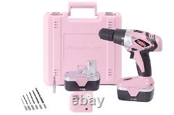 Pink Power Drill PP182 18V Cordless Electric Drill Driver Set for Women Tool 2