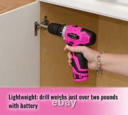 Pink Power PP121LI 12V Cordless Drill & Driver Tool Kit for Women-