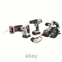 Power Tools Combo Kit Tool Set 20 Volt Max Lithium Ion Battery Drill Driver