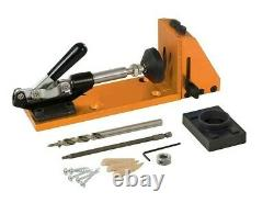 RDG tools steel pocket hole jig clamp set with drill screws dowels driver