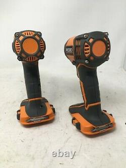 RIDGID 18-Volt Lithium-Ion Cordless Drill/Driver and Impact Driver Tools Only