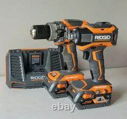 RIDGID 18v Cordless Brushless Hammer Drill and Impact Driver 2-Tool Combo Kit