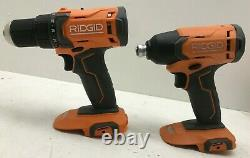 RIDGID R9272 18V Cordless 2-Tool Combo Kit with (2)Batteries, Charger, & Bag, LN