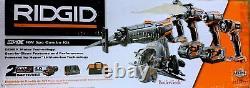 RIDGID R9652 18V 5 Piece Tool Kit Brand New SEALED BOX #502 $339