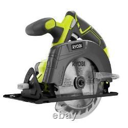 RYOBI Cordless 2-Tool Combo Kit, Drill/Driver Circular Saw 2 Batteries Charger