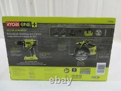 RYOBI P1816 Cordless 2-Tool Starter Combo Kit 2 Speed Drill/Driver, Circular Saw