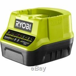 Ryobi 18v Power Cordless Tool Combo Drill Driver Circular Saw Grinder 2 Battery