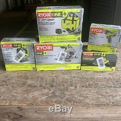 SET OF 5 Ryobi Piece Combo Tool Set ONE+18V
