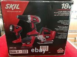 Skil 2887-23 18V Cordless 4-Tool Combo Kit