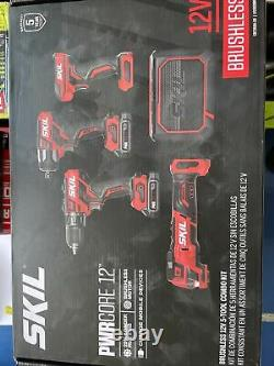 Skil CB7368A-20 12V Brushless 5-Tool Combo Kit +2 Batteries withCharger Bluetooth