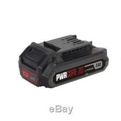 Skil CB739601 20V 4-Tool Combo Kit Drill, Impact Driver, Reciprocating Saw, Light