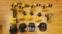Used Dewalt 18v tool lot Drills, Impact Driver, Flashlights, Battery Chargers