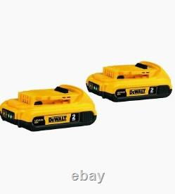 7 Set Tool 20v Max Li-ion Cordless Brushless Combo Kit 2 Cases Charger Batteries
