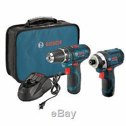 Bosch Clpk22-120 12 Volts 3/8 Pouces Max 2 Outils De Forage Et D'impact Pilote Combo Kit