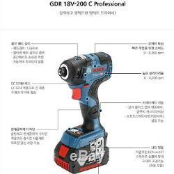 Bosch Gdr 18v-200c Professionnel Compect Conducteur Nu Outil Boîtier Nu