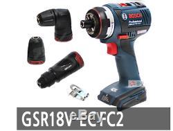 Bosch Gsr18v-ec Fc2 Flexi-cliquez 13mm Sans Clé Angle Sds Marteau Ups Bare Outil