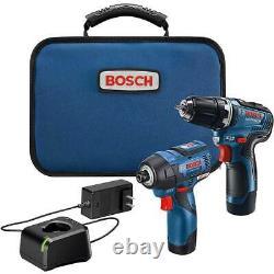 Bosch Gxl12v-220b22 12v Max Brushless Cordless 2 Tool Combo Kit Avec Batteries
