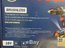 Bosch Gxl18v-240b22 18 Volt 2-outil Compact Marteau Perforateur Et D'impact Pilote Combo