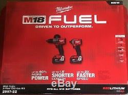 Brand New Milwaukee M18 Carburant 2997-22 2-tool Kit Combo Dans L'affaire Livraison Gratuite