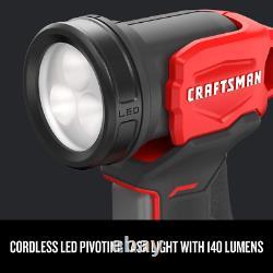Craftsman Cordless Drill V20 Batterie Au Lithium, Kit Combo, 4 Outil (cmck401d2) Nouveau