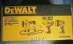 Dewalt 20v Max Xr 3-tool Combo Kit Dck397hm2 Brand New