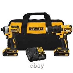 Dewalt 2-tool 20-volt Max Brushless Power Tool Combo Kit Avec Boîtier Souple Dck277c2
