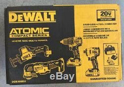 Dewalt Atomic 20-volt Lithium-ion Kit Combo (4-tool) Avec 2 Batteries & Chargeur