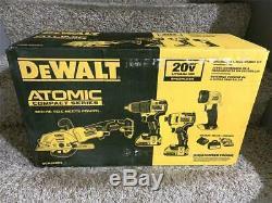 Dewalt Atomique 20v Max Combo Kit (4-tool) Dck488d2 Drill Conducteur A Vu La Lumière Sac +