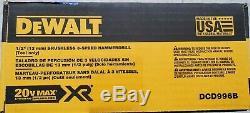 Dewalt Dc996b 20v Xr Balai 3 Vitesse Sans Fil Hammer Outil Perceuse / Driver Nouveau