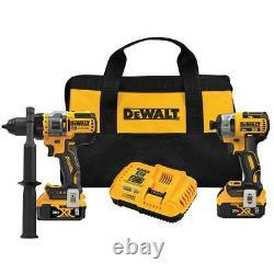 Dewalt Dck2100p2 20v Max Hammer Drill Sans Fil Sans Brosse/driver 2 Tool Combo Kit