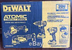 Dewalt Dck489d2 Atomique 20 Volt Li-ion 4 Tool Kit Combo Avec 2 Piles Scellés