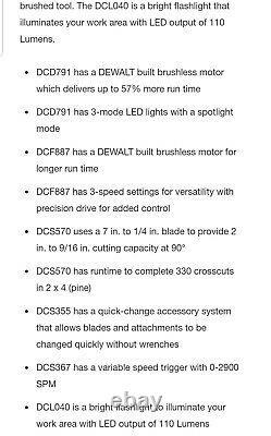Dewalt Dck684d2 20v Max 20-volt Li-ion Sans Fil Sans Fil Combo À 6 Outils