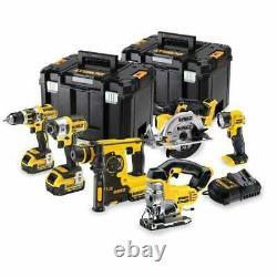 Dewalt Dck699m3t-gb 18v Cordless Xr 6pce Tool Set Tool Kit Tstak Boxes