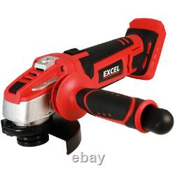 Excel Exl5057 18v 9 Piece Cordless Power Tool Kit 4 X Batteries, Chargeur & Sac